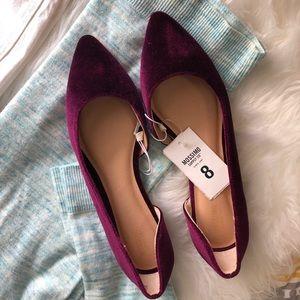 Mossimo Supply Co. Shoes - Mossimo • Purple Velvet Flats